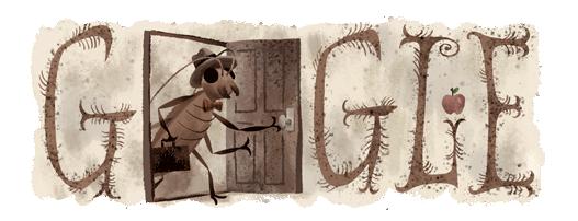 Doodle a Franz Kafka por su 130 aniversario